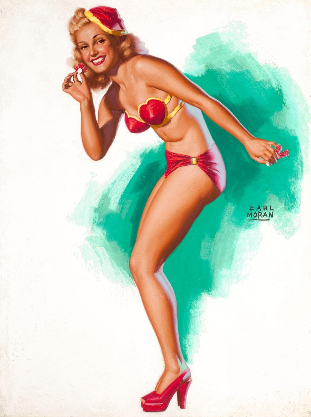 Earl Moran Christmas Pin-Up