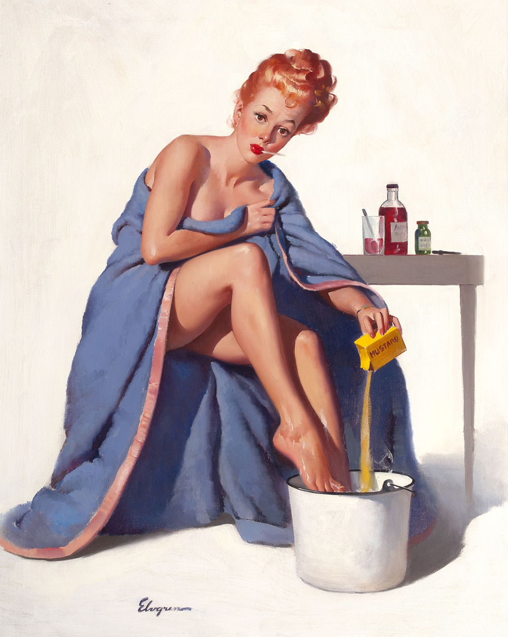 Gil Elvgren It's Nothing to Sneeze At